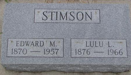 STIMSON, EDWARD & LULU - Sac County, Iowa | EDWARD & LULU STIMSON