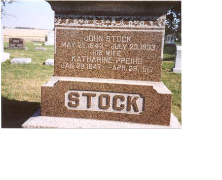 STOCK, JOHN & KATHARINE - Sac County, Iowa | JOHN & KATHARINE STOCK