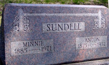 SUNDELL, ANTON & MINNIE - Sac County, Iowa | ANTON & MINNIE SUNDELL