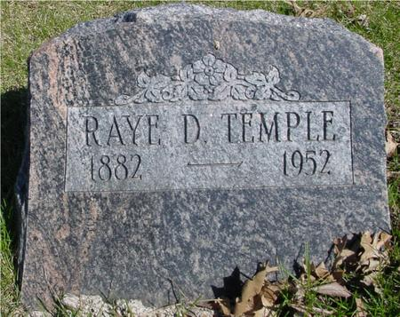TEMPLE, RAYE D. - Sac County, Iowa | RAYE D. TEMPLE