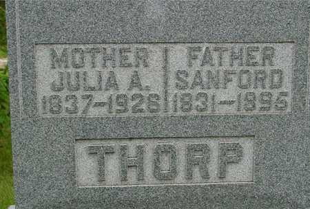 THORP, SANFORD & JULIA A. - Sac County, Iowa | SANFORD & JULIA A. THORP