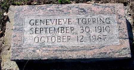 TOPPING, GENEVIEVE - Sac County, Iowa | GENEVIEVE TOPPING