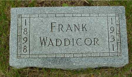 WADDICOR, FRANK - Sac County, Iowa | FRANK WADDICOR