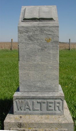 WALTER, FAMILY MONUMENT - Sac County, Iowa | FAMILY MONUMENT WALTER