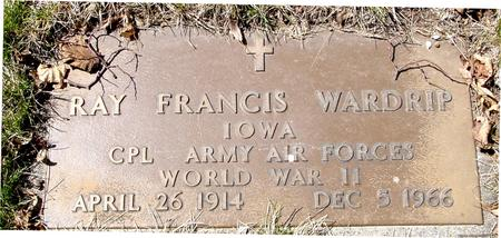 WARDRIP, RAY FRANCIS - Sac County, Iowa | RAY FRANCIS WARDRIP