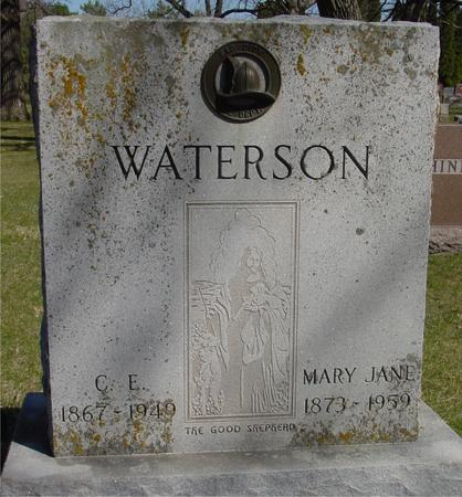 WATERSON, C. E. & MARY JANE - Sac County, Iowa | C. E. & MARY JANE WATERSON