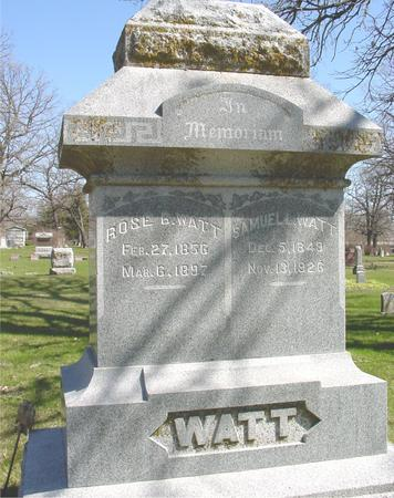 WATT, SAMUEL L. & ROSE - Sac County, Iowa | SAMUEL L. & ROSE WATT