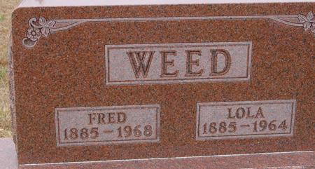 WEED, FRED & LOLA - Sac County, Iowa | FRED & LOLA WEED