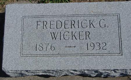 WICKER, FREDERICK G. - Sac County, Iowa | FREDERICK G. WICKER