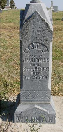 WILDMAN, MARY M. - Sac County, Iowa | MARY M. WILDMAN