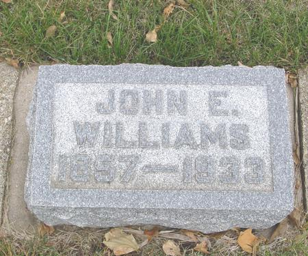 WILLIAMS, JOHN E. - Sac County, Iowa | JOHN E. WILLIAMS