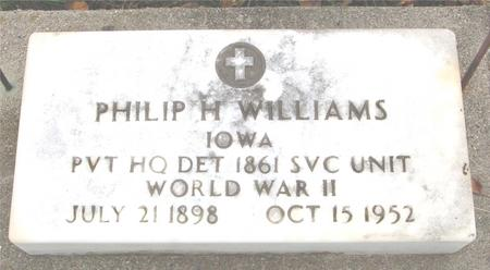 WILLIAMS, PHILIP H. - Sac County, Iowa | PHILIP H. WILLIAMS
