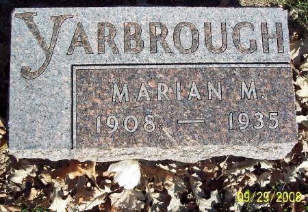 YARBROUGH, MARIAN M - Sac County, Iowa   MARIAN M YARBROUGH