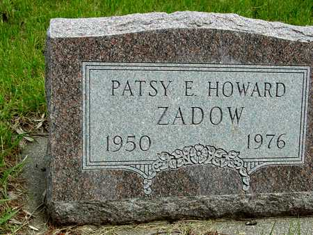 HOWARD ZADOW, PATSY E. - Sac County, Iowa | PATSY E. HOWARD ZADOW