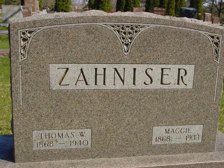 ZAHNISER, THOMAS & MAGGIE - Sac County, Iowa | THOMAS & MAGGIE ZAHNISER