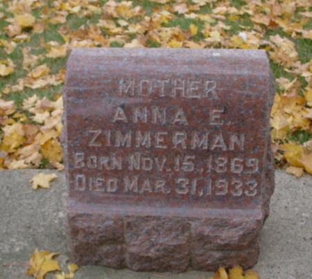 ZIMMERMAN, ANNA E. - Sac County, Iowa | ANNA E. ZIMMERMAN