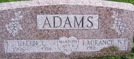 ADAMS, LAURANCE NEWTON - Scott County, Iowa   LAURANCE NEWTON ADAMS