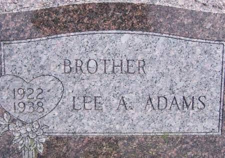 ADAMS, LEE A - Scott County, Iowa | LEE A ADAMS