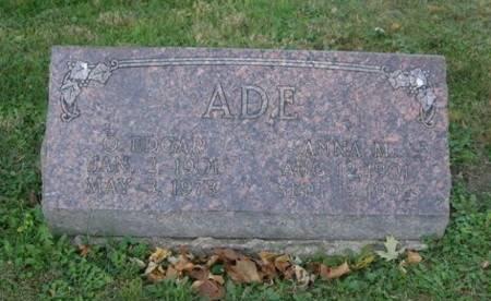 ADE, O. EDGAR - Scott County, Iowa   O. EDGAR ADE