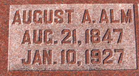 ALM, AUGUST A. - Scott County, Iowa | AUGUST A. ALM