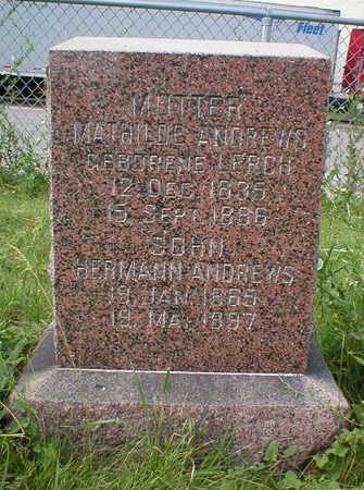 LERCH ANDREWS, MATHILDA - Scott County, Iowa | MATHILDA LERCH ANDREWS