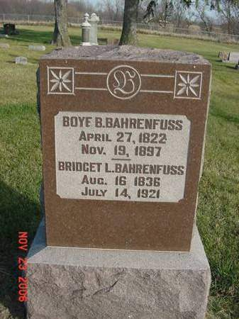 BAHRENFUSS, BOYE B - Scott County, Iowa | BOYE B BAHRENFUSS