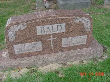 BALD, BERTHA - Scott County, Iowa | BERTHA BALD
