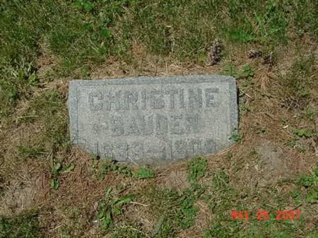 BAUDER, CHRISTINE - Scott County, Iowa | CHRISTINE BAUDER