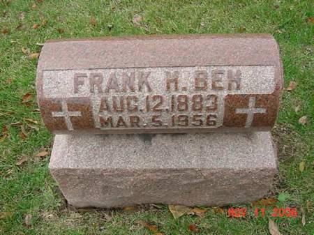 BEH, FRANK H - Scott County, Iowa | FRANK H BEH