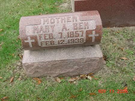 BEH, MARY A - Scott County, Iowa | MARY A BEH