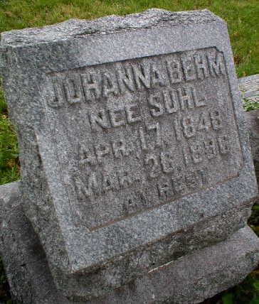 SUHL BEHM, JOHANNA - Scott County, Iowa | JOHANNA SUHL BEHM