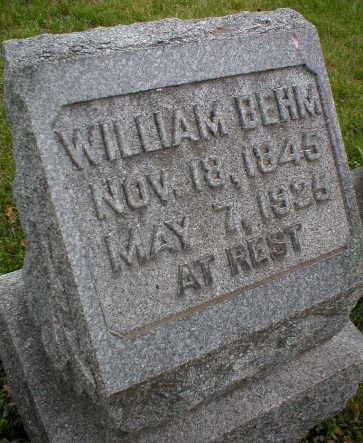 BEHM, WILLIAM - Scott County, Iowa | WILLIAM BEHM