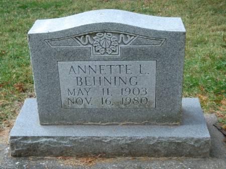 BEHNING, ANNETTE - Scott County, Iowa | ANNETTE BEHNING