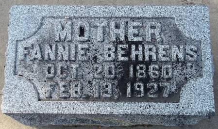 BEHRENS, FANNIE - Scott County, Iowa | FANNIE BEHRENS