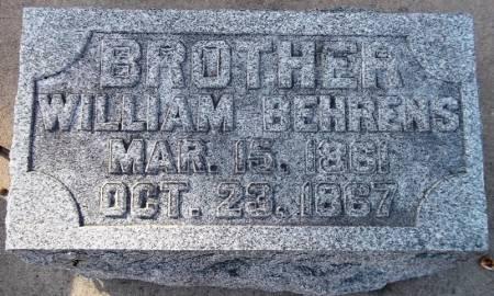 BEHRENS, WILLIAM - Scott County, Iowa | WILLIAM BEHRENS