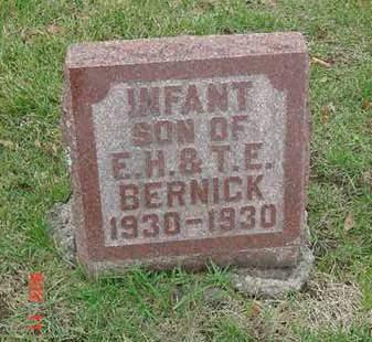 BERNICK, INFANT - Scott County, Iowa | INFANT BERNICK