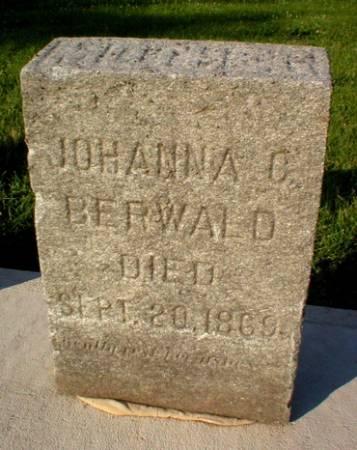 BERWALD, JOHANNA C. - Scott County, Iowa   JOHANNA C. BERWALD