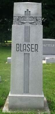 BLASER, FAMILY MONUMENT - Scott County, Iowa   FAMILY MONUMENT BLASER