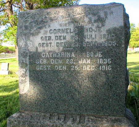 BOJE, CORNELS - Scott County, Iowa | CORNELS BOJE
