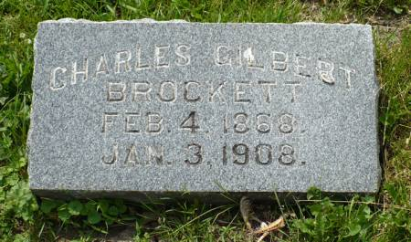 BROCKETT, CHARLES GILBERT - Scott County, Iowa | CHARLES GILBERT BROCKETT