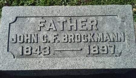 BROCKMANN, JOHN C. F. - Scott County, Iowa | JOHN C. F. BROCKMANN