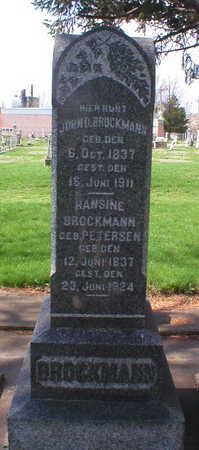 BROCKMANN, HANSINE - Scott County, Iowa | HANSINE BROCKMANN