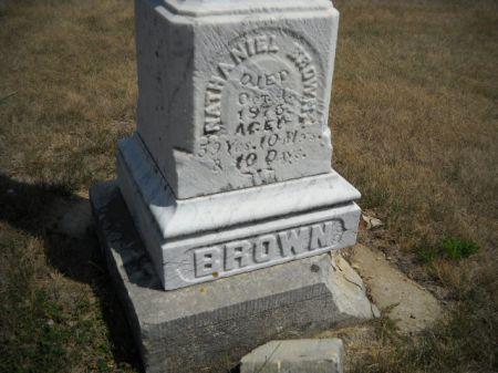 BROWN, NATHANIEL - Scott County, Iowa | NATHANIEL BROWN