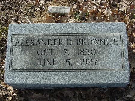 BROWNLIE, ALEXANDER D - Scott County, Iowa   ALEXANDER D BROWNLIE