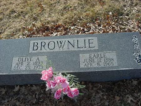 BROWNLIE, OLIVE A - Scott County, Iowa | OLIVE A BROWNLIE