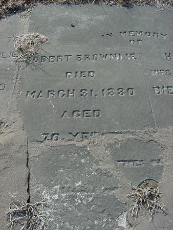 BROWNLIE, ROBERT - Scott County, Iowa | ROBERT BROWNLIE