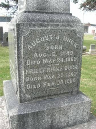 BUCK, FRIEDERICKE - Scott County, Iowa | FRIEDERICKE BUCK