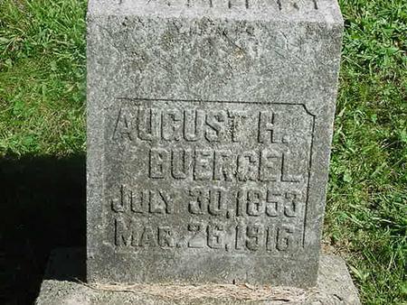 BUERGEL, AUGUST H - Scott County, Iowa   AUGUST H BUERGEL