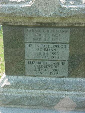 CALDERWOOD BUHMANN, HELEN - Scott County, Iowa | HELEN CALDERWOOD BUHMANN