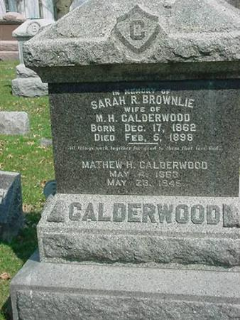 CALDERWOOD, MATHEW H - Scott County, Iowa | MATHEW H CALDERWOOD